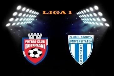FC Botosani vs CS Universitatea Craiova – Meci greu pentru olteni!