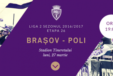 FC Brasov vs ASU Poli Timisoara – Ardelenii, in drum spre Liga1!