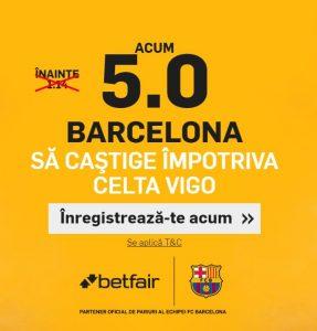 La Betfair ai cota marita pentru victoria Barcelonei!