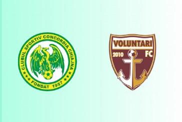 Concordia Chiajna vs FC Voluntari – Cota uriasa pe o victorie a gazdelor!