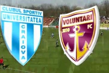 CS U Craiova vs FC Voluntari – Vezi argumentele pentru o cota de 2.50 cu sanse mari de reusita