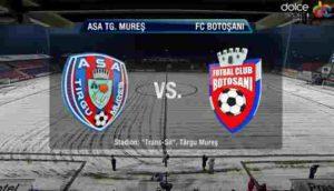 ASA Tg Mures vs FC Botosani - Cel mult una dintre echipe marcheaza, profitul se dubleaza
