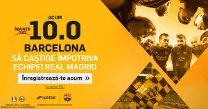 Pariaza pe un succes al Barcelonei cu Real Madrid la cota 10