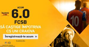 """Cota 6.0 pentru o victorie a celor de la FCSB cu CS """"U"""" Craiova"""