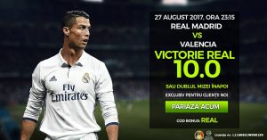 Cota 10 la NetBet pentru victoria Realului cu Valencia