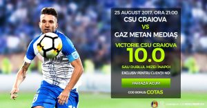 Pariaza pe victoria Craiovei cu Gaz Metan Medias la cota 10