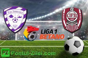 Poli Timisoara vs CFR Cluj - Inca o victorie pentru lider?