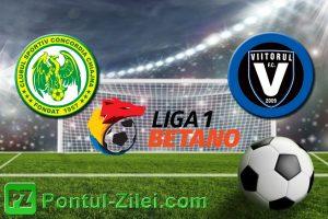 Ponturi pariuri Liga 1 Betano - Concordia Chiajna vs FC Viitorul