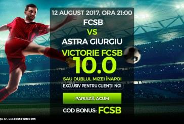 Cota 10 pentru macar un gol marcat de FCSB cu Plzen