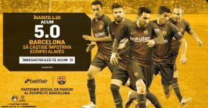 Pariaza pe victoria Barcelonei cu Alaves la cota 5.0
