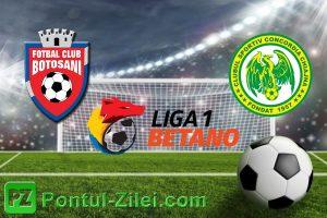 FC Botosani vs Concordia Chiajna - Avancronica si ponturi pentru pariuri