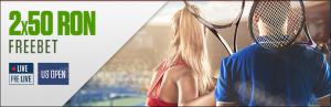 Obtine 2×50 RON pentru US Open!