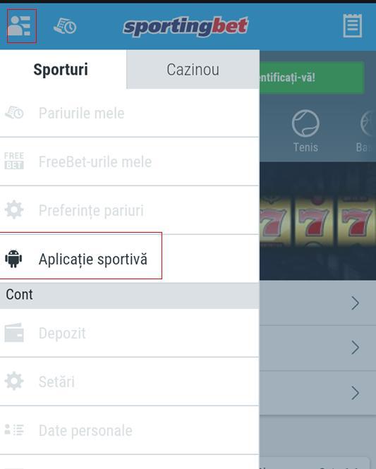 aplicație mobil casa de pariuri Sportingbet
