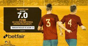 Un succes al celor de la FCSB cu Dinamo iti aduce un profit de 300 RON