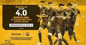 Profit de 150 RON daca pariezi pe Girona vs Barcelona