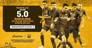 Pariaza la cota 5.0 pe un succes al Barcelonei cu Getafe