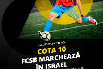 Un gol marcat de FCSB cu Hapoel Beer Sheva iti aduce de 10X miza pariata!