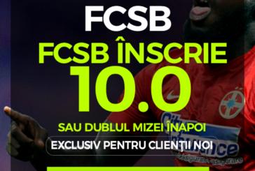 Pariaza pe gol marcat de FCSB si castiga de 10X miza investita in acest pariu!
