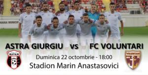 Astra Giurgiu vs FC Voluntari - Gazdele ne ajută să facem profit