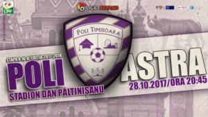 ACS Poli Timişoara vs Astra Giurgiu - Trei cote care aduc profit!
