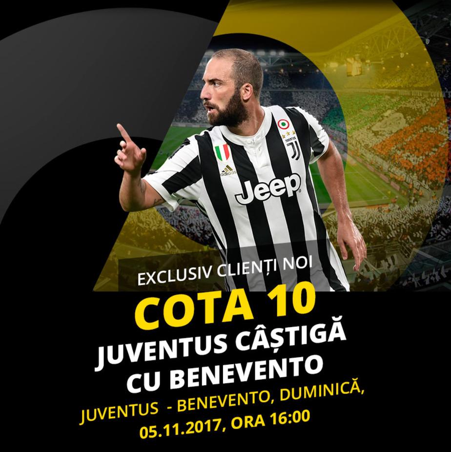 Cota 10.0 pentru o victorie a lui Juventus rezolvata inca de la vestiare