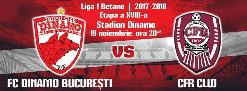 Ponturi pariuri fotbal Liga 1 - Dinamo Bucuresti vs CFR Cluj