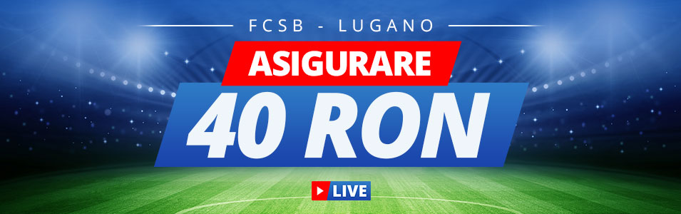Pariaza pe FCSB vs Lugano cu 40 RON asigurare!