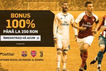 Bonus Betfair – 100% pana la 450 RON! Ia-l ACUM!