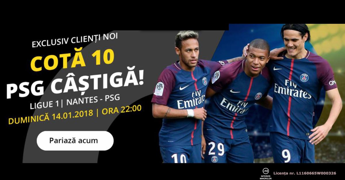 Cota 10.0 pentru PSG sa castige cu Nantes plus Abonament Premium 60 de zile!