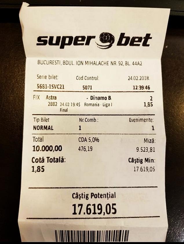 Cum sa pierzi 10.000 RON pariind pe echipa favorita