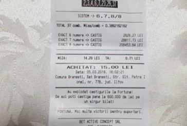 Cu doar 15 RON mizati a dat un tun de peste 45.000 de Euro