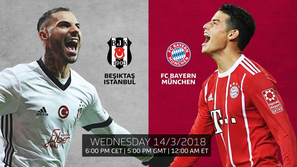 Ponturi pariuri fotbal Champions League - Besiktas vs Bayern