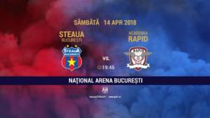 Academia Rapid, favorita bookmakerilor pentru duelul cu CSA Steaua