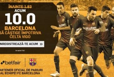 Celta Vigo vs Barcelona – Profită de cota-cadou 10 pentru victoria catalanilor