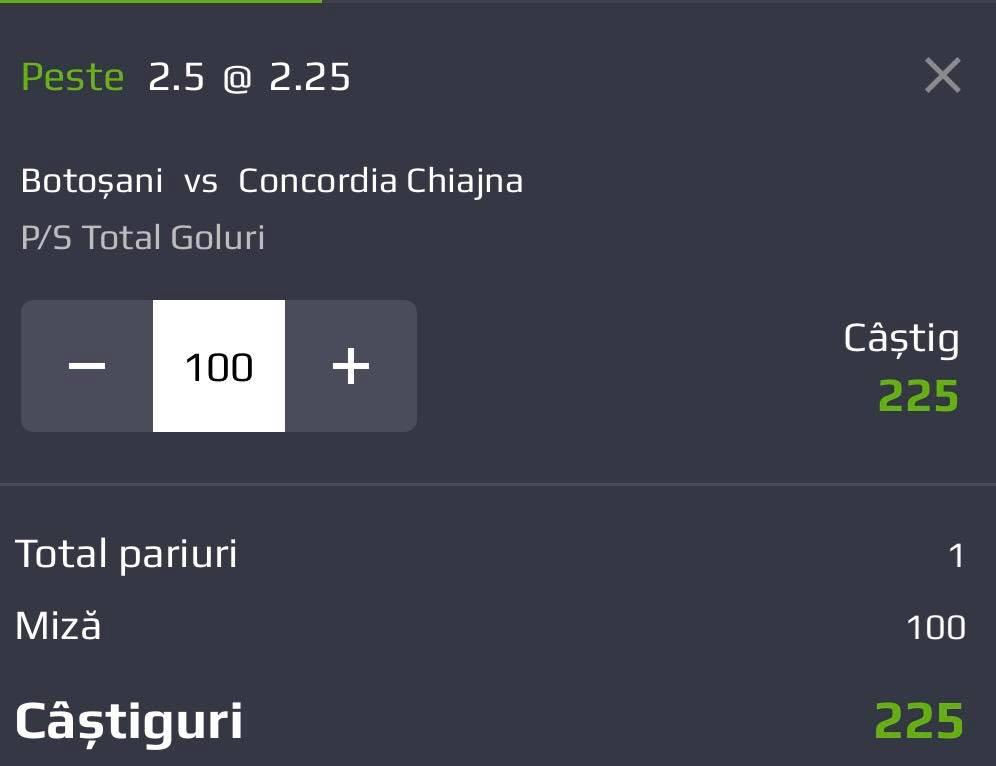Biletul zilei din fotbal – MIERCURI 16 Mai – Cota 2.25 – Castig potential 225 RON