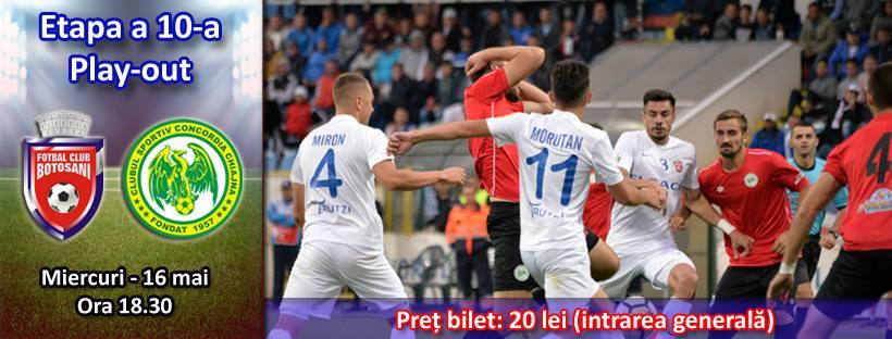 Ponturi pariuri fotbal Liga 1 - FC Botosani vs Concordia Chiajna