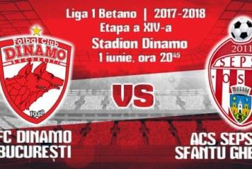 Ponturi Dinamo vs Sepsi fotbal 1 iunie 2018 Liga I Betano