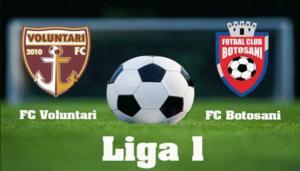 Ponturi Voluntari vs Botosani fotbal 24 iulie 2021 Liga 1