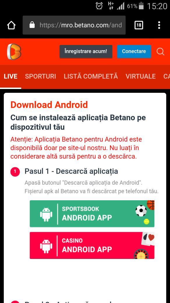 aplicatie pariuri sportive Betano