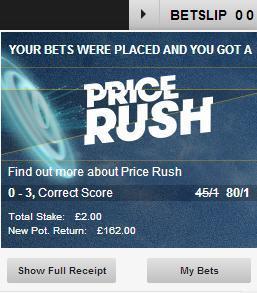 Ce inseamna Price Rush la Betfair?