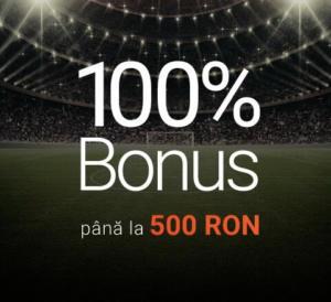 bonus pariuri 100% pana la 500 RON la Betano