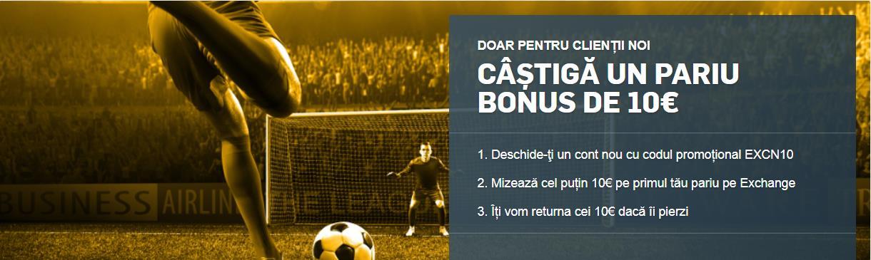 Afla cum sa iei Bonus 10€ Betting Exchange Betfair