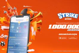 Strike by Betano – dă pronosticurile corecte și câștigă 1.000.000 lei!