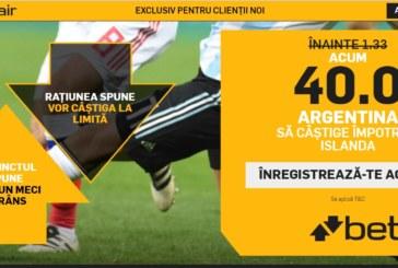Pontul zilei din fotbal – Sambata 16 Iunie – Cota 2.70 – Castig potential 270 RON