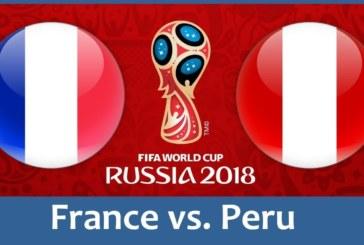 Ponturi Franta vs Peru 21 iunie 2018 Campionatul Mondial