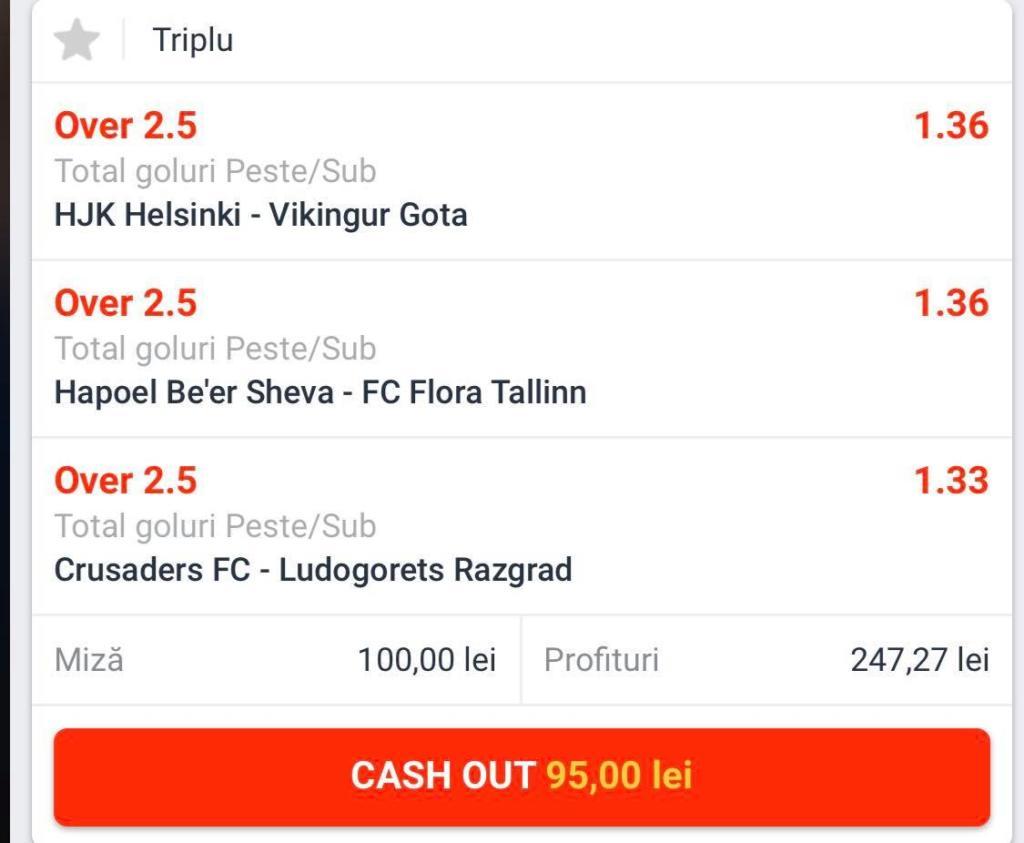 Biletul Zilei fotbal – Marti 17 Iulie – Cota 2.48 – Castig potential 248 RON