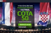 Biletul Zilei fotbal – Duminica 15 Iulie – Cota 2.56 – Castig potential 256 RON