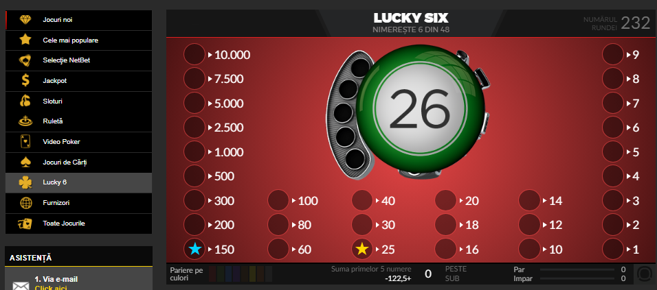 Lucky Six la Netbet