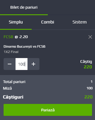 Pariuri simple Netbet