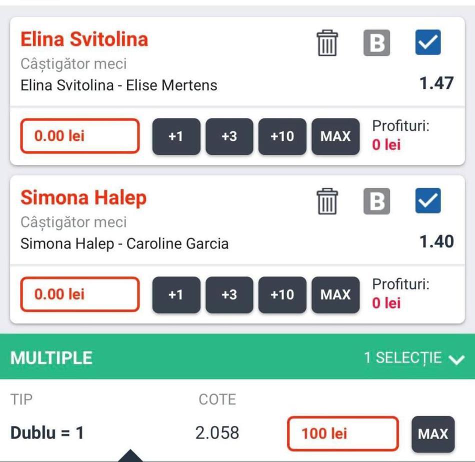 Biletul zilei din tenis – Vineri 10 August – Cota 2.95 – Castig potential 205 RON